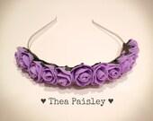 Flower Crown : Lavender Rose / Pastel goth, Pastel grunge