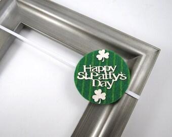 St Patricks Day Headband - Green Headband - Shamrock Headband - Felt Headband - Newborn Infant Baby Toddler Child Teenager Adult Headband