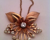 Reserved for Kenny, See CLOSEOUTSALE 50% Coupon, Vintage Atomic Pendant, Goldtone and White Rhinestones