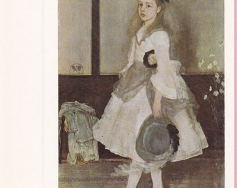 """Large """"Miss Cicely Alexander"""" by Whistler Art Postcard - 1265"""