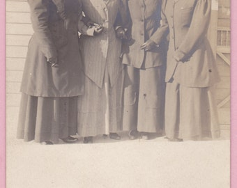 """Ca. 1908 """"Ladies in Hats"""" Real Photo Postcard - 1525"""