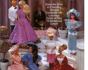 Fashion Doll Party Dresses Crochet Pattern Book The Needlecraft Shop 921702