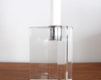 Ritts Astrolite Lucite Candle Block