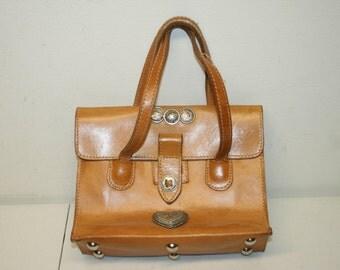 Free Ship,Western Leather Handbag,western purse,handbag purse,rustic handbag,western handbag,brown leather handbag,leather western purse