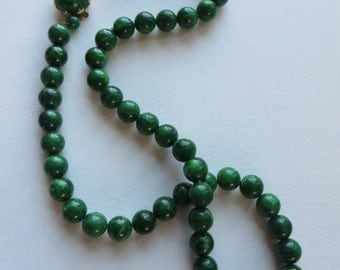 Vintage Green West Germany Beaded Necklace