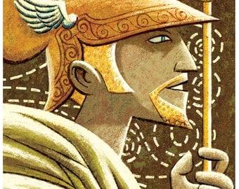 "Greek Gods - Hermes 13"" x 19"" Print"
