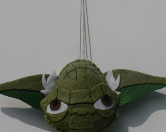 Felt Yoda Ornament - Star Wars Ornament