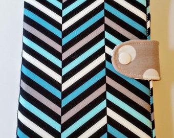 Kindle Paperwhite Glowlight Cover Kobo Glo Nook Simple Touch Nook Glowlight Blue and Gray Herringbone Custom Order