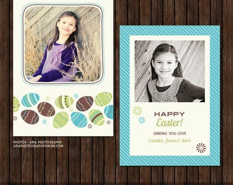 5x7 PSD Easter Card - Spring Card - Template - EA8