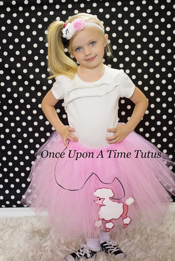 Pink Poodle Skirt Tutu Baby Newborn 3 6 9 12 Months Child