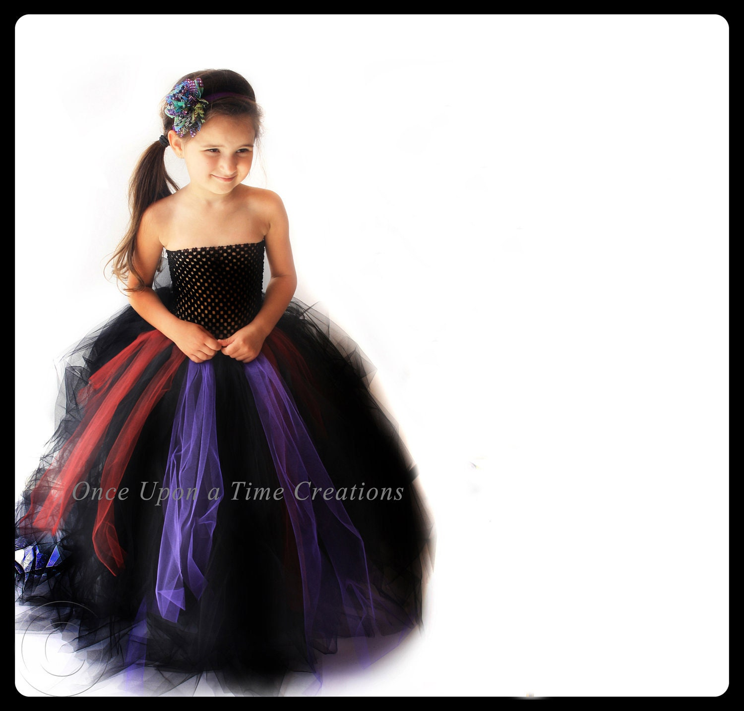 Full length scary witch tutu dress long halloween costume for Halloween costume ideas for 12 year olds