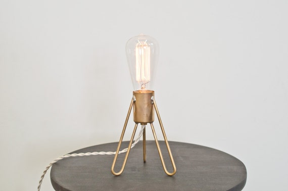Retronaut- Desk Lamp Solid Brass w/Edison Bulb