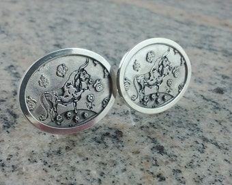 Ferdinand the Bull Cufflinks  (Sterling Silver, White Gold, Yellow Gold, Bronze)