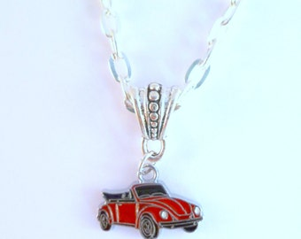 VW Convertible Beetle Necklace