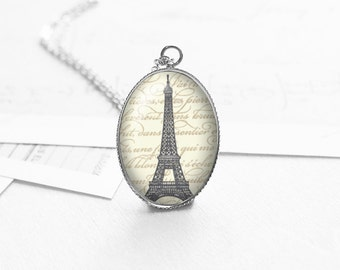 Paris Necklace, Eiffel Tower Necklace, French Vintage, Paris Jewelry, Best Friend Gift, BFF Necklace, Sister Gift, N251