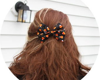SALE - Candy Corn Hair Bow - Hair Bow with Clip