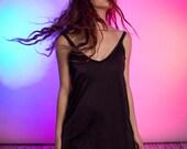 Black Sexy Slip Dress