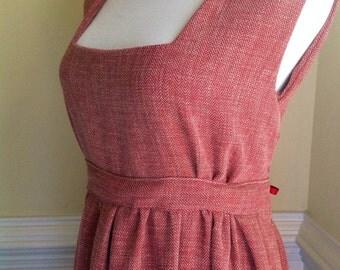 Peasant Apron Dress, Historical Costume Apron, Jane Austen Apron, Peasant Apron