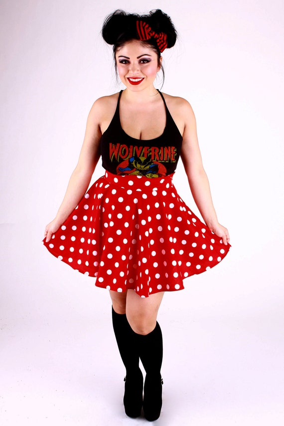 Minnie Polka Dot Circle Skirt