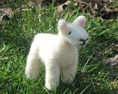 Needle Felted Lamb- Baby Sheep Toy Waldorf Inspired Soft Animal Doll- For Children or Decoration