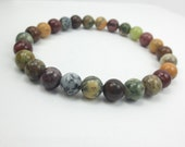 Men's Protection Bracelet, Stretch Bracelet with Muted Color Gemstones, Beaded Bracelet, Healing Crystal Jewelry Mans Jewelry, Mans Bracelet