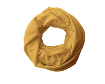 TODDLER Infinity Scarf, Mustard yellow Baby Scarf, 1-6 years old kids circle scarf, dribble scarf