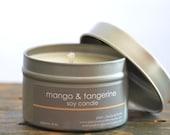 Mango & Tangerine Soy Candle Tin 4 oz. - mango soy candle - summer scent candle - fresh scent candle - fruit scent candle