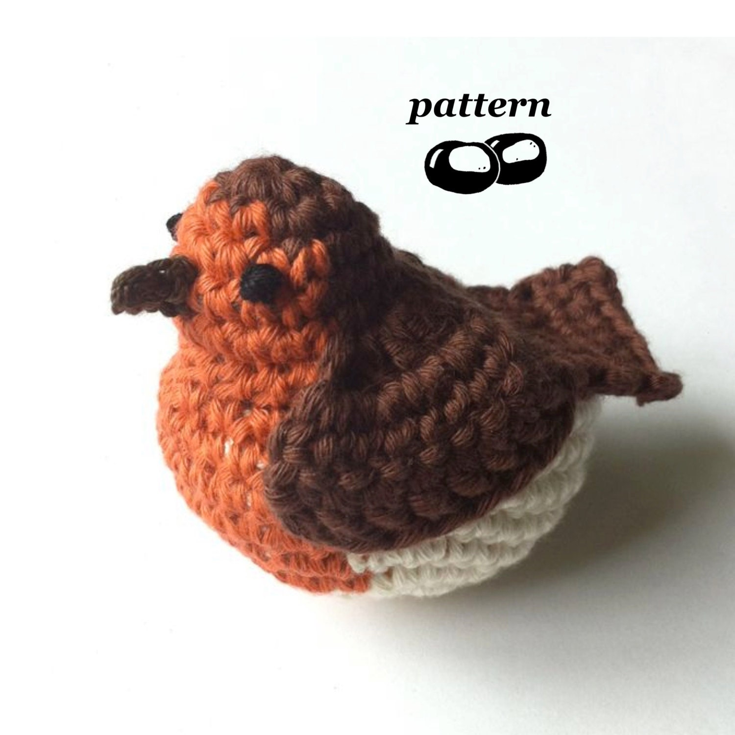 Amigurumi Crochet Patterns Free Doll : Robin Crochet Pattern / Crochet Bird Pattern / Crochet ...