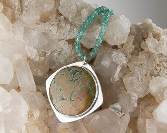 Turquoise and Apatite Statement Necklace