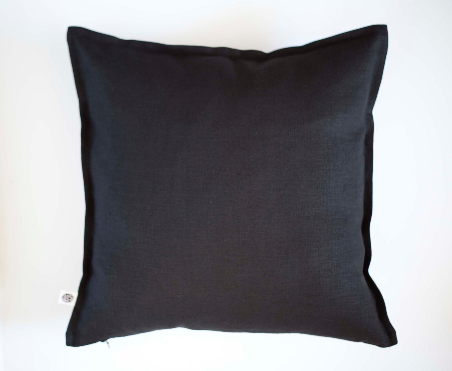Black pillow cover for decorative pillows sewn in custom size
