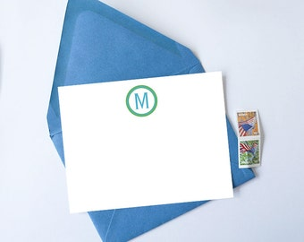 Personalized Stationery Set // Monogram Stationery - Set of 25 - Custom Stationery - Choose your own colors!