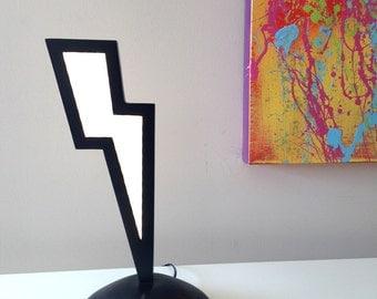 Graphic Lightning Bolt LED Accent Light