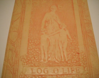 Book Embossed leather Log of Life Book