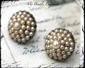 50% OFF, Vintage Earrings, Wedding Pearls, Pearl Earrings, Costume Jewelry, Earrings, Antique Pearls, Screw Back, Wedding Jewelry, Antique