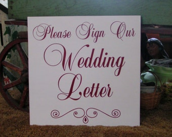 Add on Wedding letter purchase Reception guest book sign in book