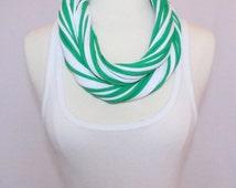 St. Patrick's Day T-Shirt Scarf - Irish Green and White Mix