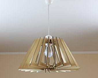 XXL Wooden Lamp / Eco-friendly / Accent for home / Decorative ceiling lamp / Wooden Lamp shade