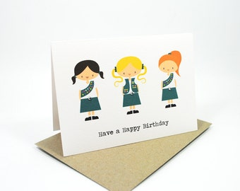 Happy Birthday Card - Girl - Girl Guides - HBC155 - Birthday Girl Card