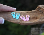 Miniature Custom STARFISH FLIP FLOPS  for your Miniature Beach Vacation- by Landscapes In Miniature