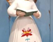 "Vintage Musical Angel Figurine 7 1/2"" Tall Made in Japan"