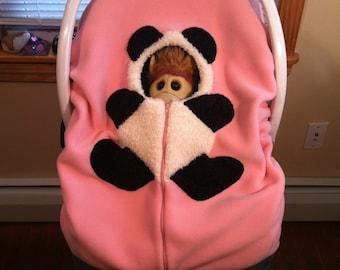 Baby, Infant Car Seat Cover... Girl Panda