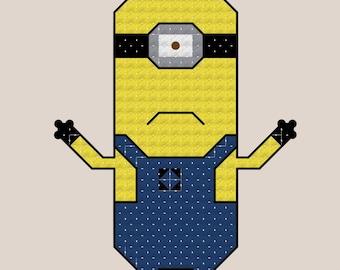 Stuart the Minion Cross Stitch Pattern