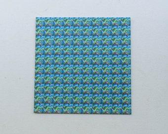 "Blotter Art / Michael McGowan ""Super Cool Marshmellows""/ Perforated Print"