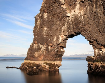 Rock Arch Photograph - Hvitserkur, Iceland - Iceland Print, Minimalist Landscape, Ocean Photography - Iceland Photography