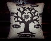 Family Tree Keepsake Pillow - Personalized