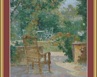 Morning In The Garden Cross Stitch Pattern