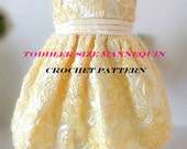 CROCHET PATTERN Toddler size dress form mannequin Crochet Mannequin 2T mannequin