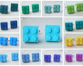 Valentine's Day - Wedding Cufflinks With Lego Bricks - Pick Your Color Cufflinks - Hipster Groomsmen Cuff Links