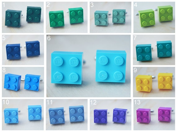 Wedding Cufflinks With Lego Bricks - Father's Day - Pick Your Color Cufflinks - Hipster Groomsmen Cuff Links