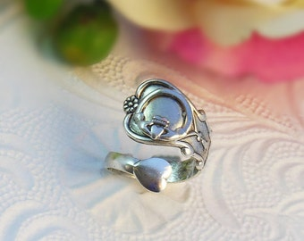 Claddagh Irish Spoon Ring - Sorority Bridesmaid Wedding Party St. Patricks Gift